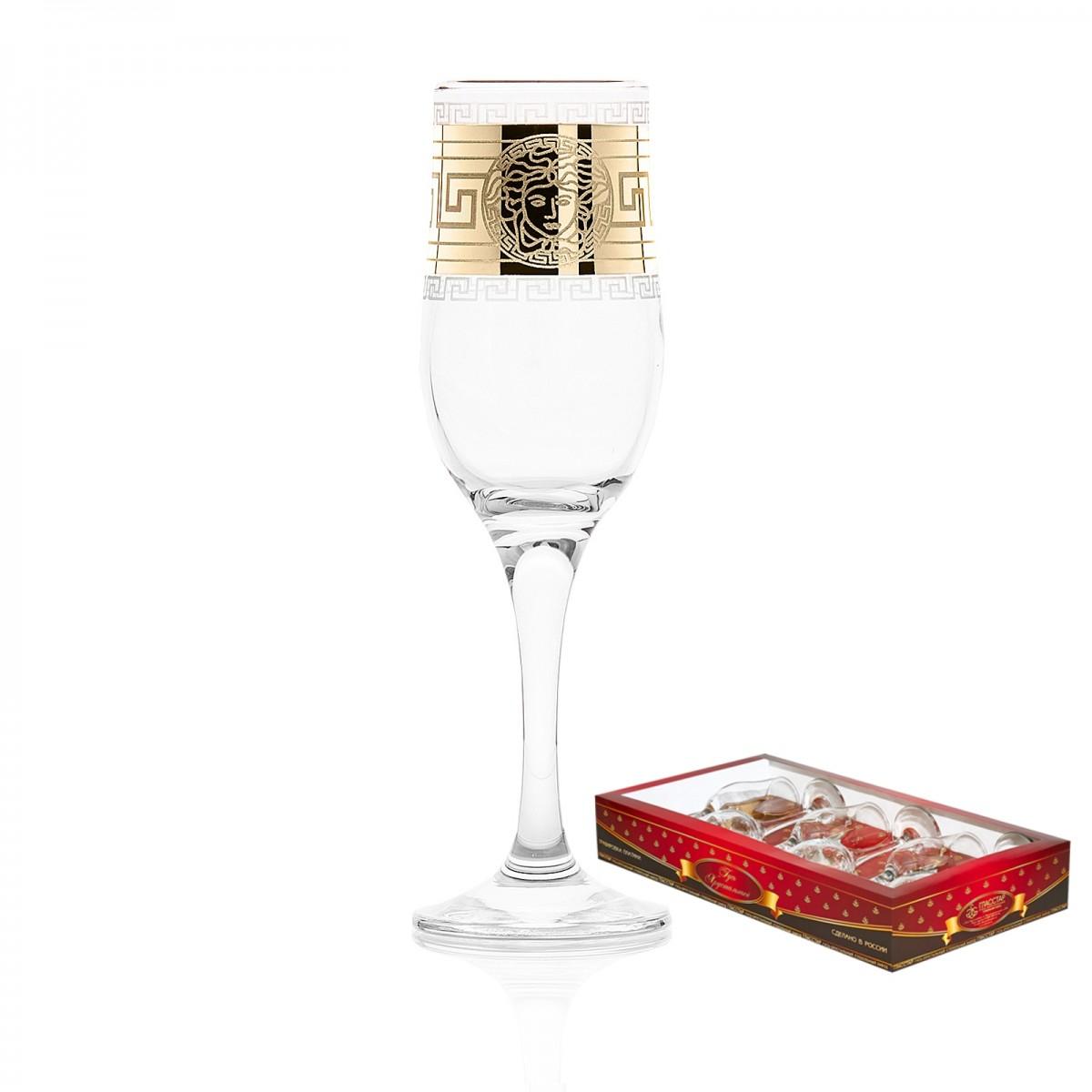Набор из 6 бокалов «Версаль», 200 мл