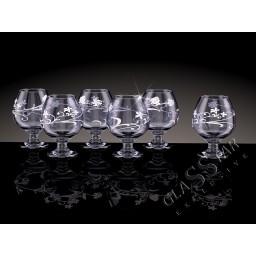 GD6_188_2 Набор из 6 бокалов для бренди «Изящная ветвь дым», 385 мл