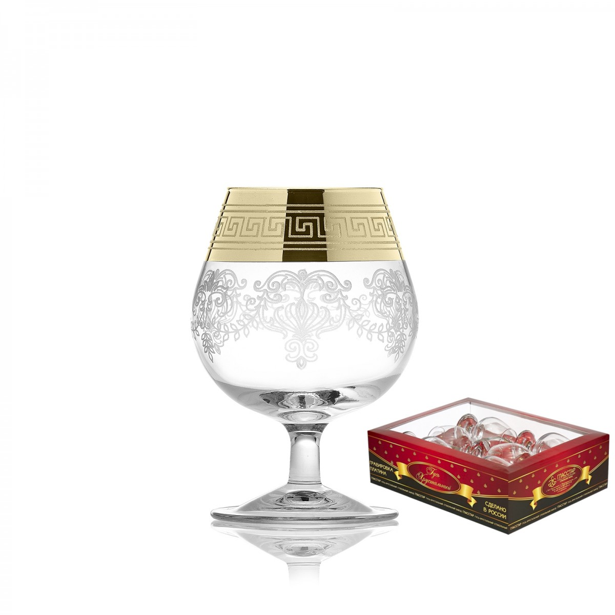Набор из 6 бокалов для бренди «Барокко», 250мл