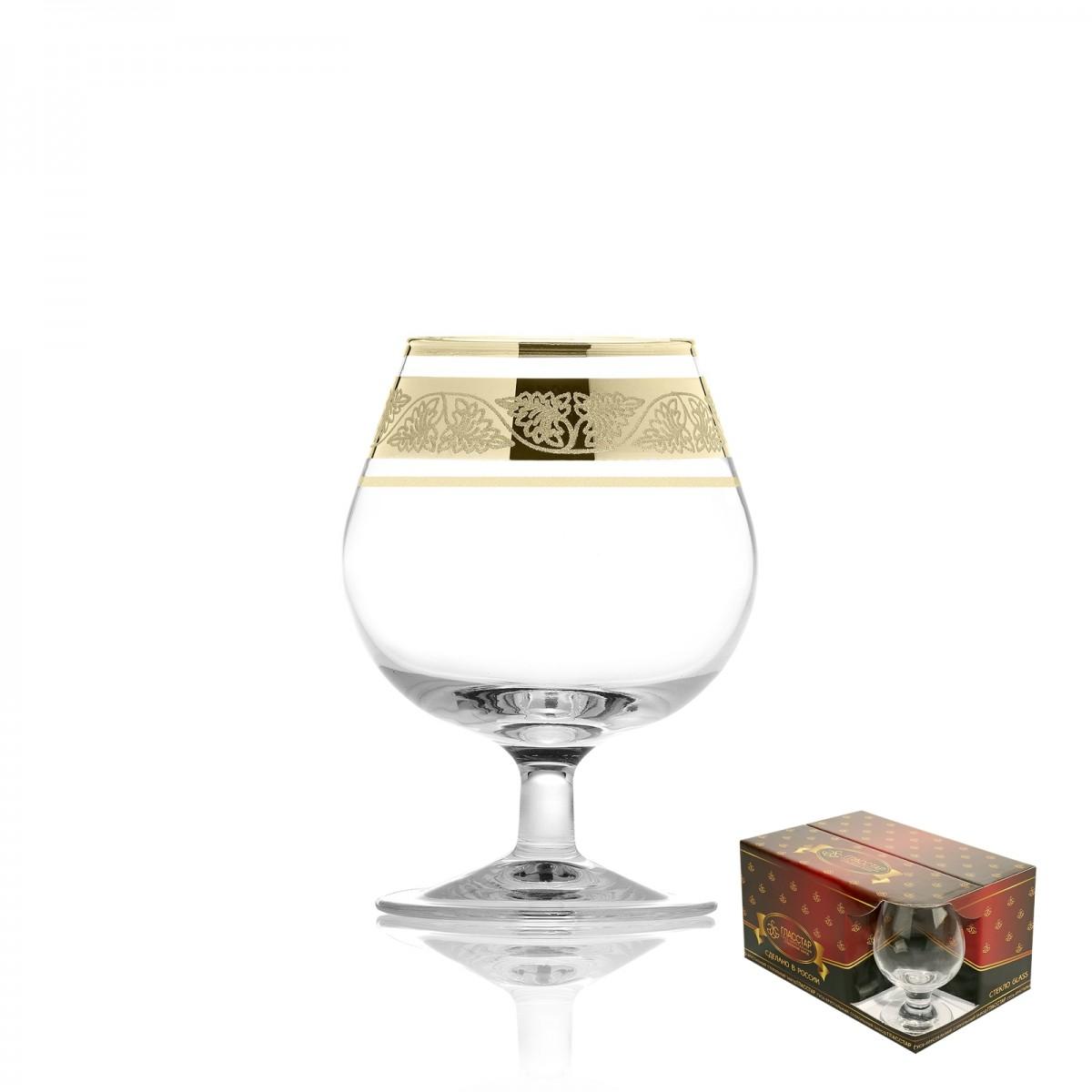 Набор из 6 бокалов для бренди «Лоза», 250 мл