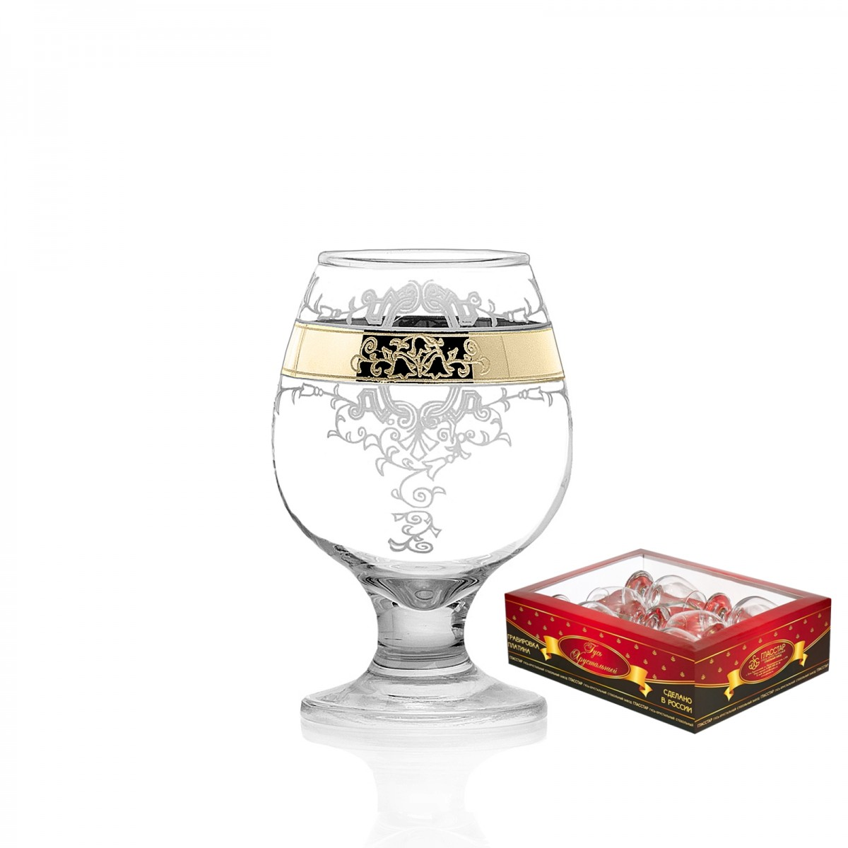 Набор из 6 бокалов для бренди «Медальон», 250 мл