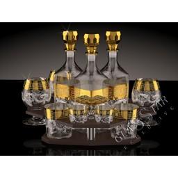 B_O_GN1_02_1740_40_50  Бар «3 графина Барокко» (Барная стойка/3 графина/3 бренди/3 стакана/3 стопки)