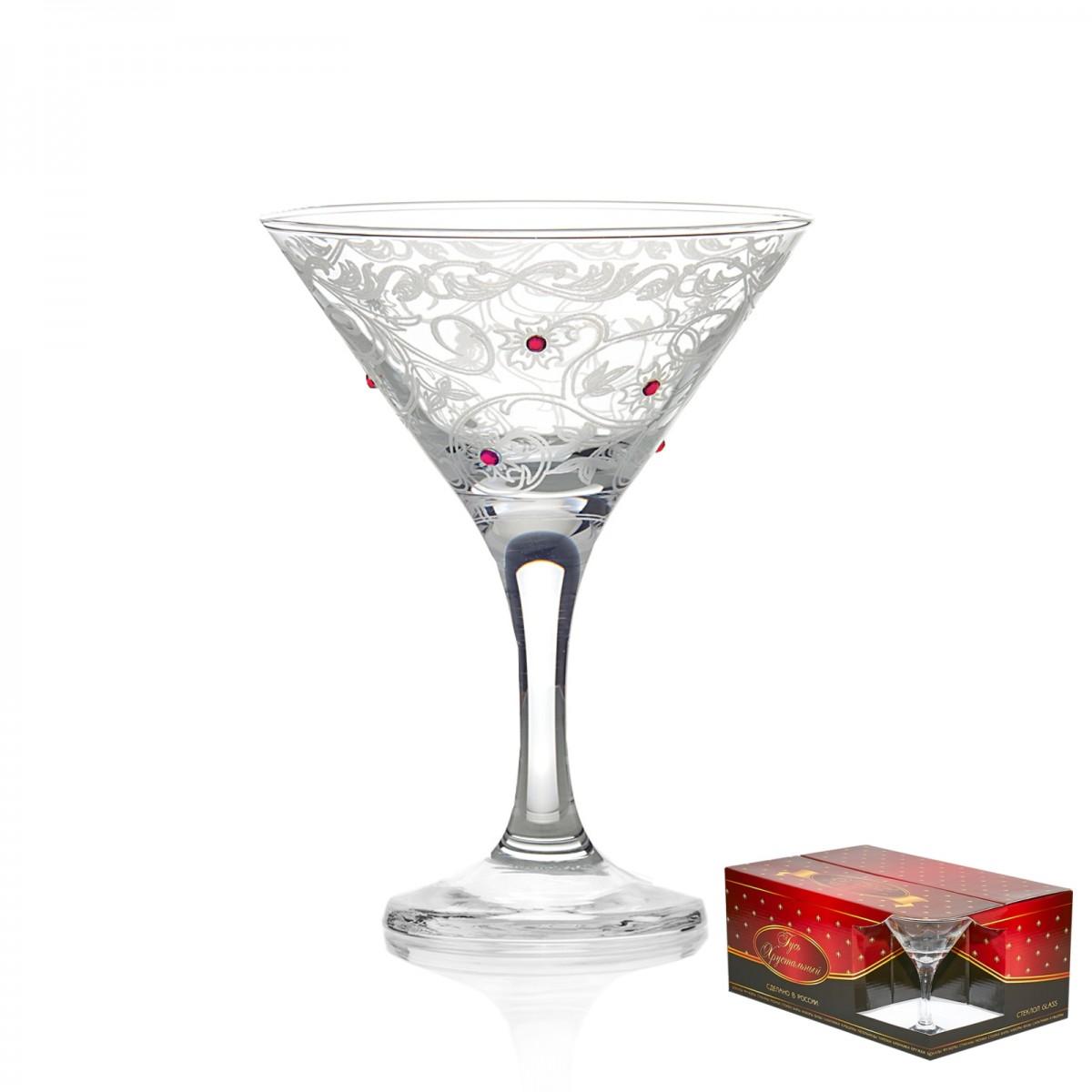 GS9_410_3 Набор из 6 бокалов для мартини «Стразы», 190 мл