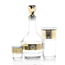 Набор 13 предметов «Версаль» (Графин + 6 стаканов + 6 стопок)