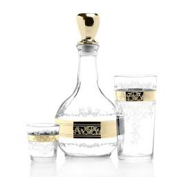 GN13_01_56_50 Набор 13 предметов «Медальон» (Графин + 6 стаканов + 6 стопок)