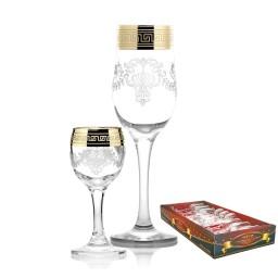 Набор с бокалами «Тулип», рисунок «Барокко»