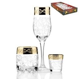 Набор 18 предметов «Вдохновение» (6 бокалов + 6 стаканов виски + 6 стопок)