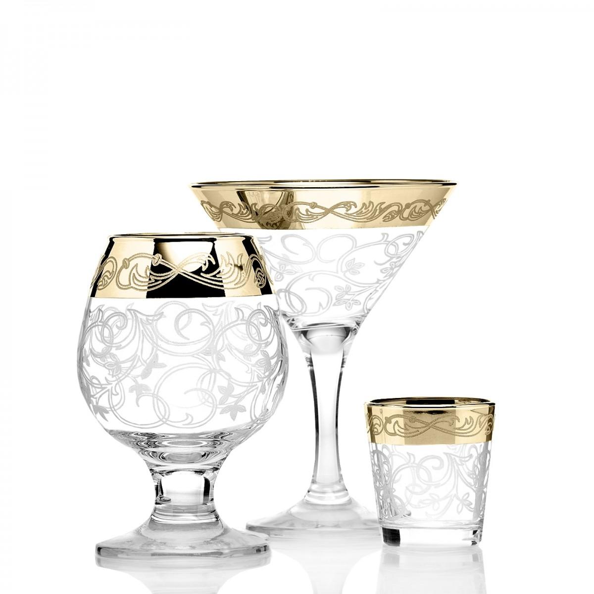 GN2_410_1740_50 Набор 18 предметов «Вдохновение»  (6 бокалов мартини + 6 бокалов бренди + 6 стопок)
