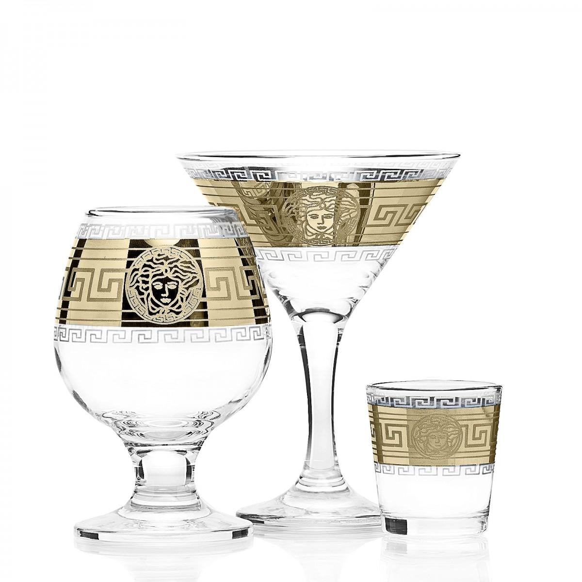Набор 18 предметов «Версаль»  (6 бокалов мартини + 6 бокалов бренди + 6 стопок)