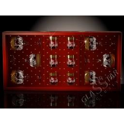 Набор 12 предметов «Золотая бабочка»  (6 фужеров + 6 стопок)
