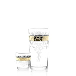 Набор 12 предметов «Медальон» (6 стаканов + 6 стопок)