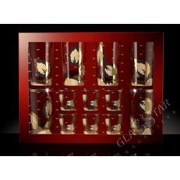 Набор 12 предметов «Лист»  (6 стаканов + 6 стопок)