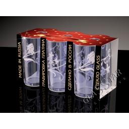 GD6_56_1 Набор из 6 стаканов «Изящная ветвь дымка», 230 мл
