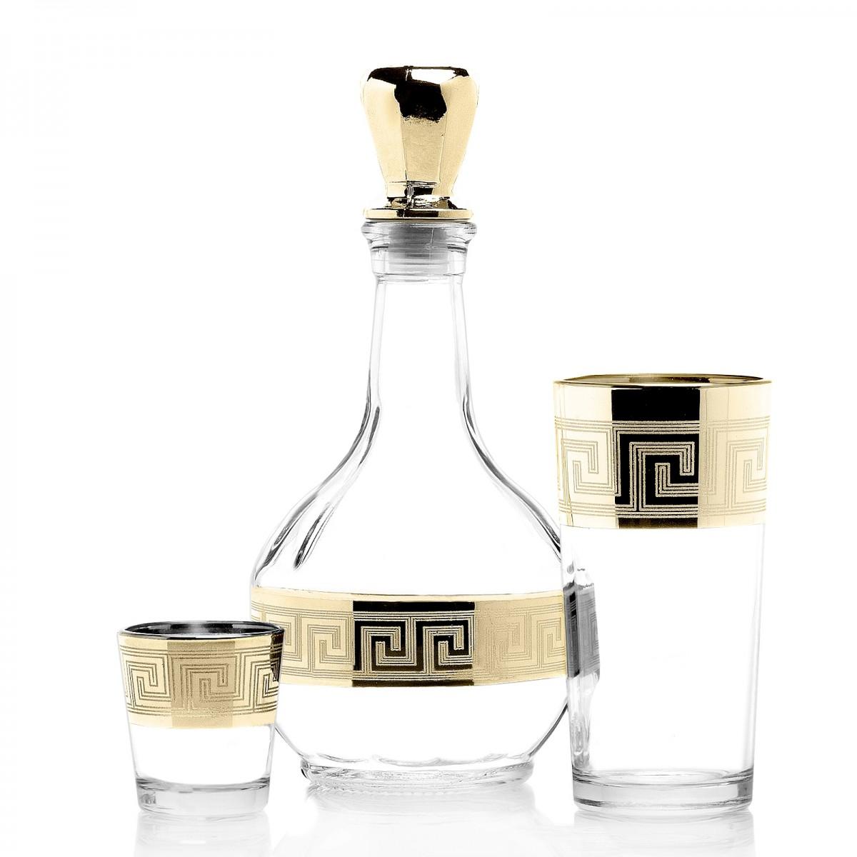 GN4_01_56_50 Набор 13 предметов «Греция» (Графин + 6 стаканов + 6 стопок)